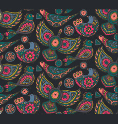 Seamless pattern with colorful ethnic vector