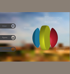 3d infographic template with ball vertically vector