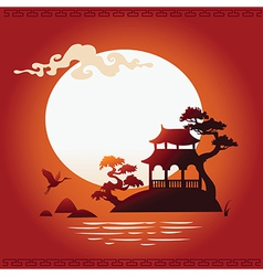 Abstract Asian Background vector image