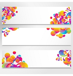 Abstract banner with bright teardrop-shaped arches vector