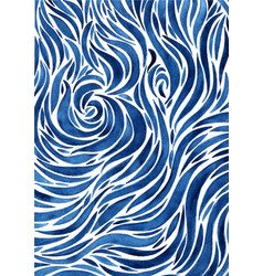 Abstract surface water or water wave watercolor vector