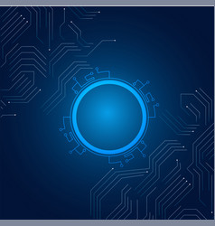 abstract technology hi-tech communication blue bac vector image