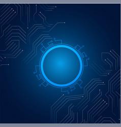 Abstract technology hi-tech communication blue bac vector