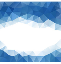 Abstract triangular banner vector