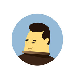 Asian business man avatar icon isolated chinese vector