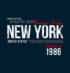 athletic new york t shirt graphics vector image