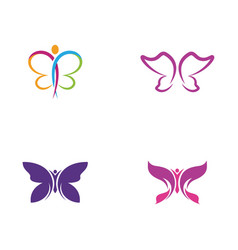 beauty butterfly icon design vector image