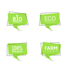 bio and eco products labels vector image