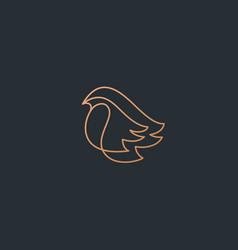 bird logo design abstract modern linear style vector image
