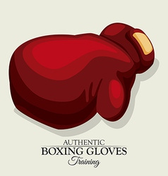 boxing label design eps10 graphic vector image