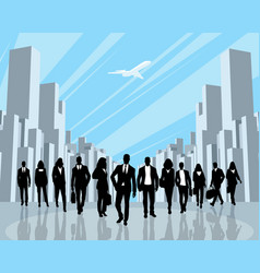 Business people in the city vector