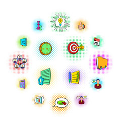 business planning icons set vector image