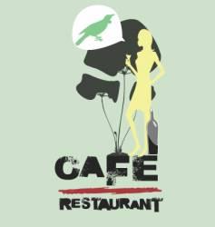 cafe restaurant vector image