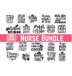 calligraphic nurse quotes lettering set nurse quo vector image