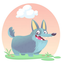 cardigan welsh corgi dog breed cartoon vector image
