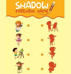 Children activity shadow matching game vector