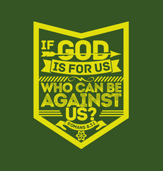 christian biblical typography vector image
