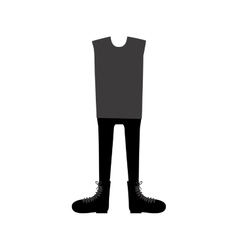 color silhouette with male clothing traditional vector image