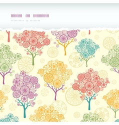Colorful abstract trees horizontal torn seamless vector image