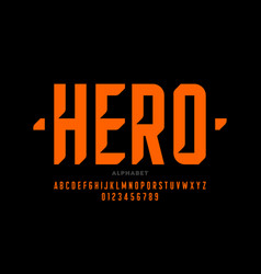 comic book superhero style font alphabet letters vector image