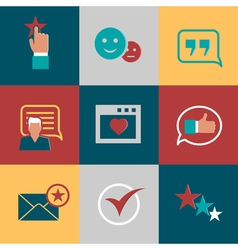 Consumer loyalty flat icons Happy clients and vector