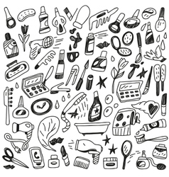 cosmetic doodles vector image