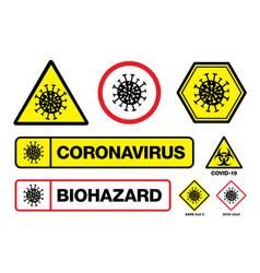 covid19-19 coronavirus sign with virus itself vector image