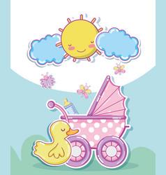 cute baby cartoons vector image