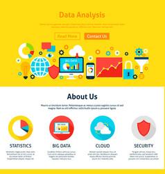 Data analysis web design vector