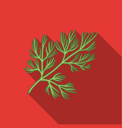 dill icon in flat style isolated on white vector image
