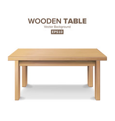 empty wooden table isolated furniture vector image vector image
