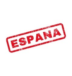 Espana Text Rubber Stamp vector