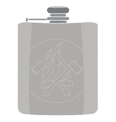 flask icon No outline vector image