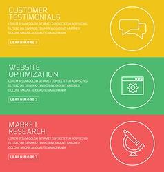 Flat design concept for customer testimonials vector image