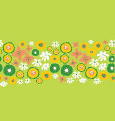 floral seamless repeat border easter spring vector image
