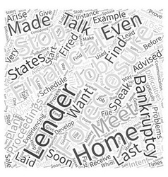 Foreclosure Can It Be Stopped Word Cloud Concept vector