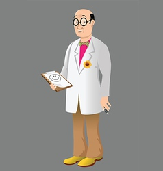 funny doctor vector image