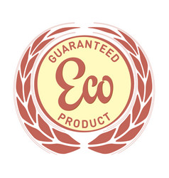guaranteed eco food label with ears vector image