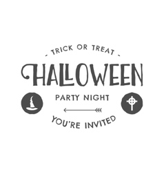 Halloween 2016 party invitation label templates vector
