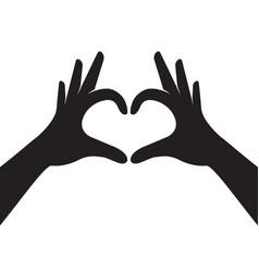 Hands making heart shape vector