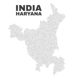 Haryana state map of points vector