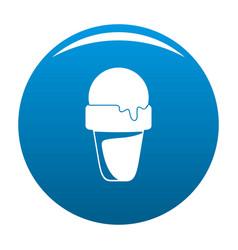 ice cream summer icon blue vector image