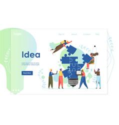 idea website landing page design template vector image