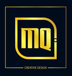 initial letter mq logo template design vector image