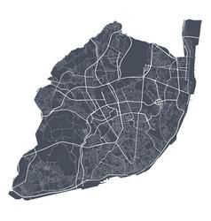 Lisboa map detailed map lisboa city poster vector