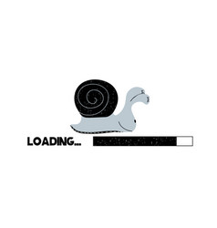Loading bar with snail vector