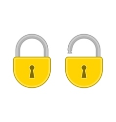 Lock open and closed vector