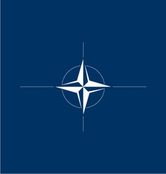 Logo Flag of NATO vector image