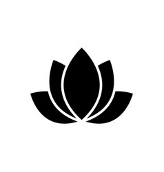 lotus - india icon black vector image