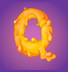 melted slicky letter q vector image